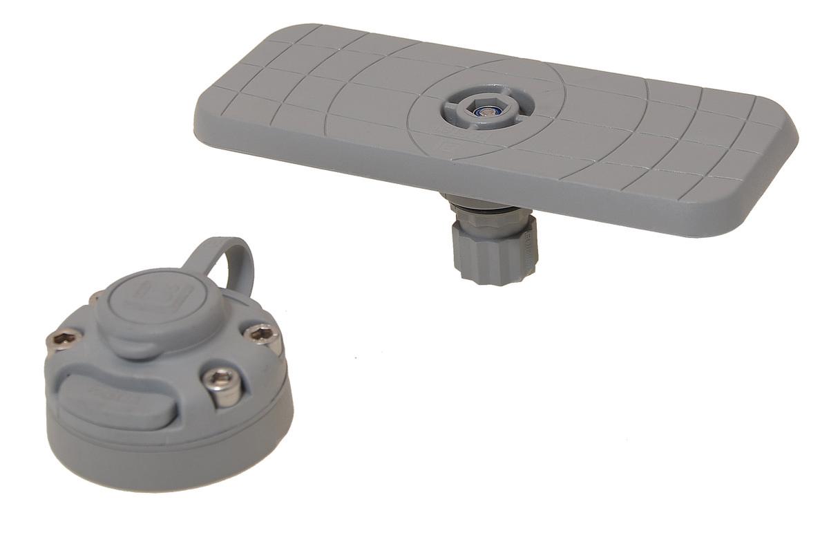 Площадка для эхолота и другого оборудования 164⨯68 мм с набором для установки на жесткий борт, универсальные держательные системы, Fasten, borika, ssb223, fasten ssb223, площадка для лодок пвх, площадка для эхолота, крепление на лодку пвх