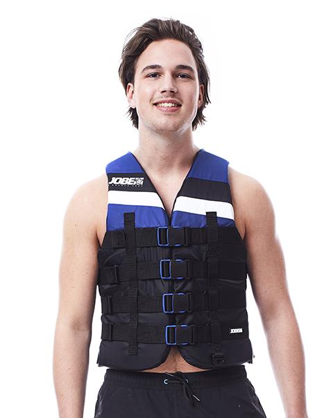 4 Buckle Vest Blue JOBE, 244817571, Жилет спасательный унисекс, Жилет страховочный unisex, Жилет страховочный, Жилет спасательный