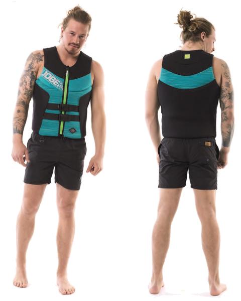 Segmented Vest Teal Blue Men JOBE, Vest Men JOBE, 244918102, JOBE 244918102, Жилет страховочный мужской, Жилет страховочный, Жилет спасательный, водный жилет