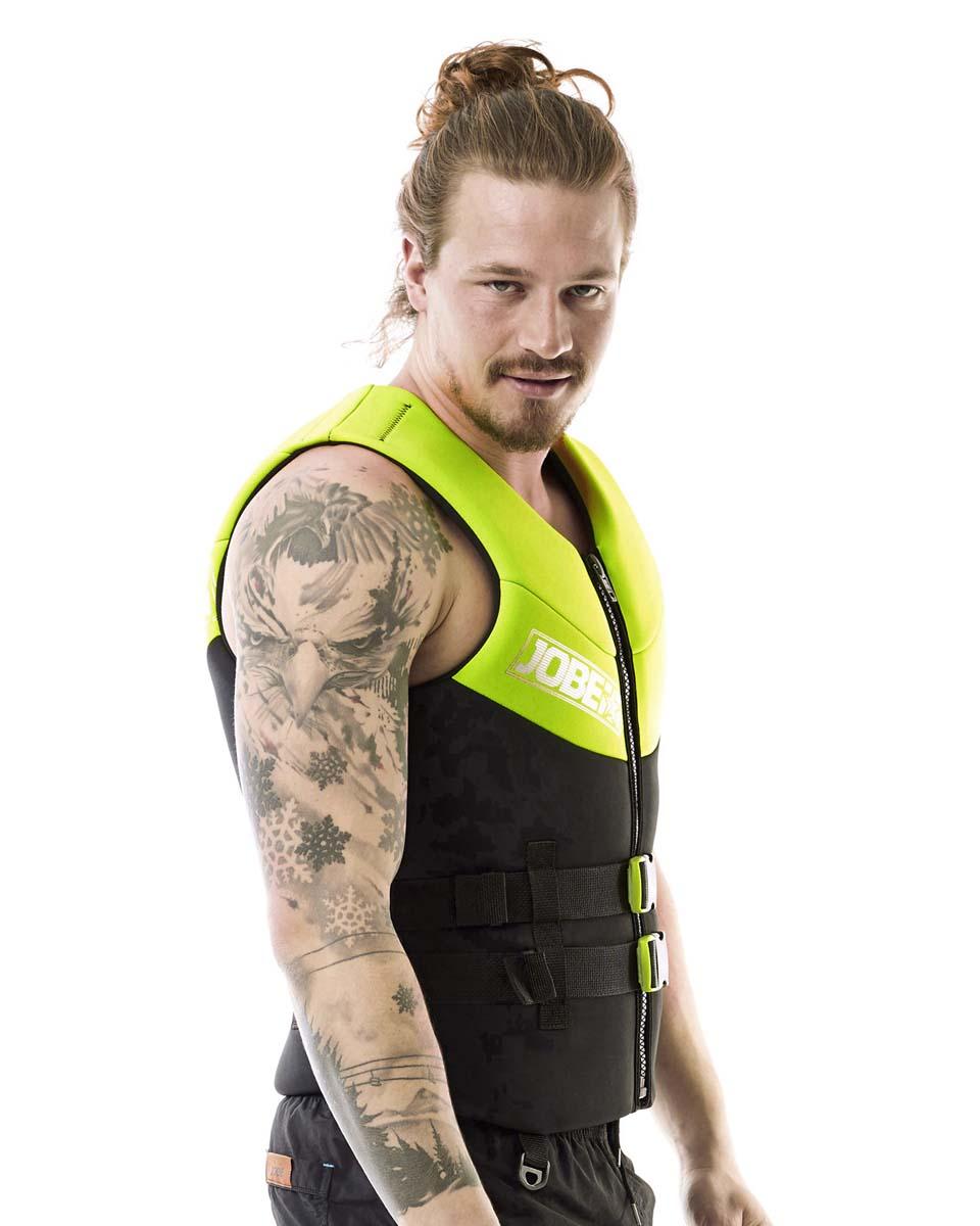 Neoprene Vest Men Lime Green JOBE, Vest Men JOBE, 244918103, JOBE 244918103, Жилет страховочный мужской, Жилет страховочный, Жилет спасательный, водный жилет