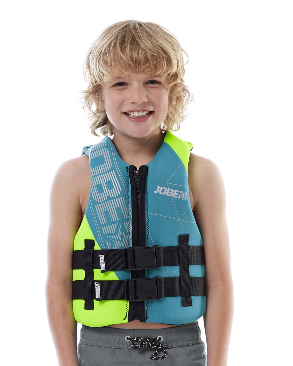 Neoprene Vest Youth Teal Blue JOBE, Vest Youth JOBE, 244918301, JOBE 244918301, Жилет страховочный детский, Жилет страховочный, Жилет спасательный подростковый, Жилет страховочный подростковый, детский страховочный жилет, детский жилет для плавания