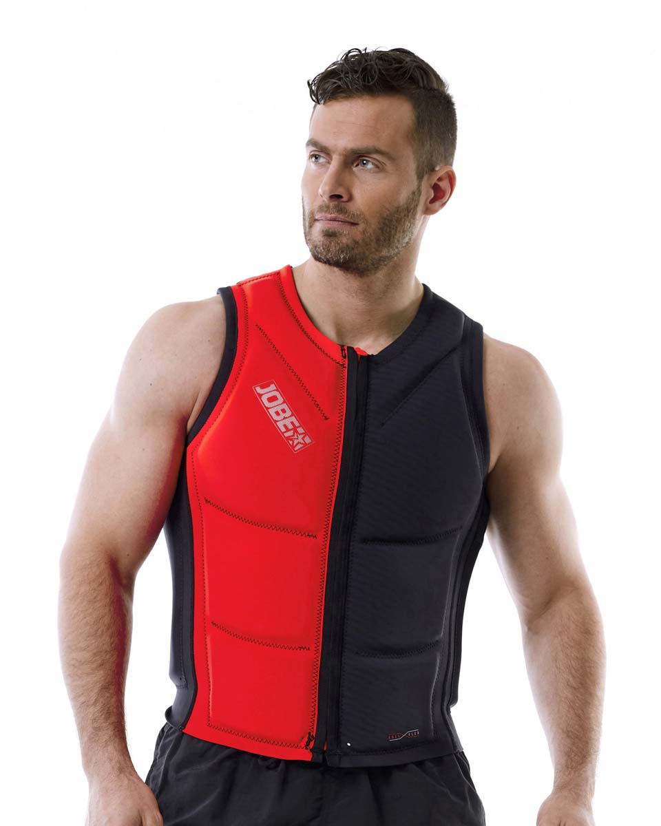 Reversible Comp Vest Zipper Fury Red|Graphite Grey Men JOBE, Vest Men JOBE, 554018002, JOBE 554018002, Жилет страховочный мужской, Жилет страховочный, Жилет спасательный, водный жилет, двухсторонний страховочный жилет