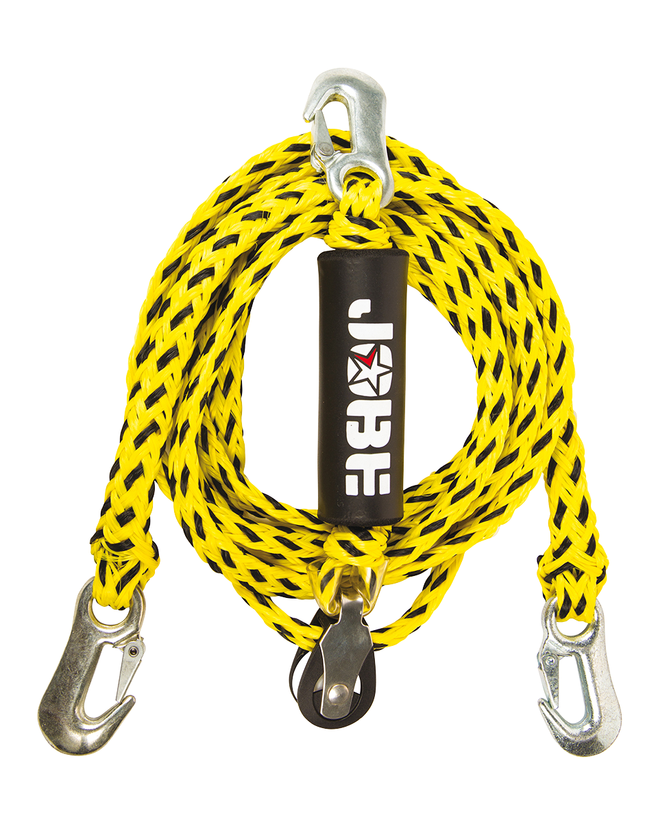 WaterSports Bridle Without Pulley 12ft 2P JOBE, WaterSports Bridle w Pulley 12ft JOBE, Water Sports Bridle With Pulley JOBE, 210209002, 210017032, фал треугольник для буксировки, фал треугольник, буксировочная веревка для водных лыж, веревка для буксировки водных лыж, буксировочная веревка