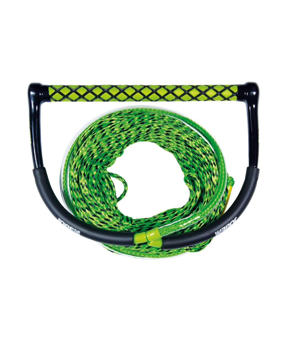 Wake Combo Core Green JOBE, 211314007, JOBE 211314007, Рукоятка и буксировочный фал для вейкборда, Рукоятка и фал для вейкборда, фал для вейкборда, трос для вейкборда, фал для вейка, нетонущий фал
