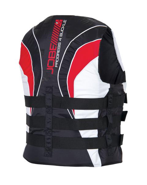 Progress 4 Buckle Vest Red JOBE, 244813002, Жилет спасательный унисекс, Жилет страховочный unisex, Жилет страховочный, Жилет спасательный
