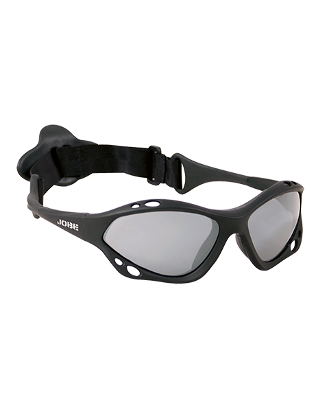 Knox Floatable Glasses Black Polarized JOBE, Float Glasses Black Rubber Polarized JOBE, 420810001, JOBE 420810001, Солнцезащитные очки для катания на аквабайке, очки для водных видов спорта, очки для гидроцикла, очки для гидры, очки для вейка, очки для водного спорта, очки для вейкборда, очки, glasses, очки JOBE, очки для водных лыж, защитные очки, защита глаз, Солнцезащитные очки, очки поляризационные