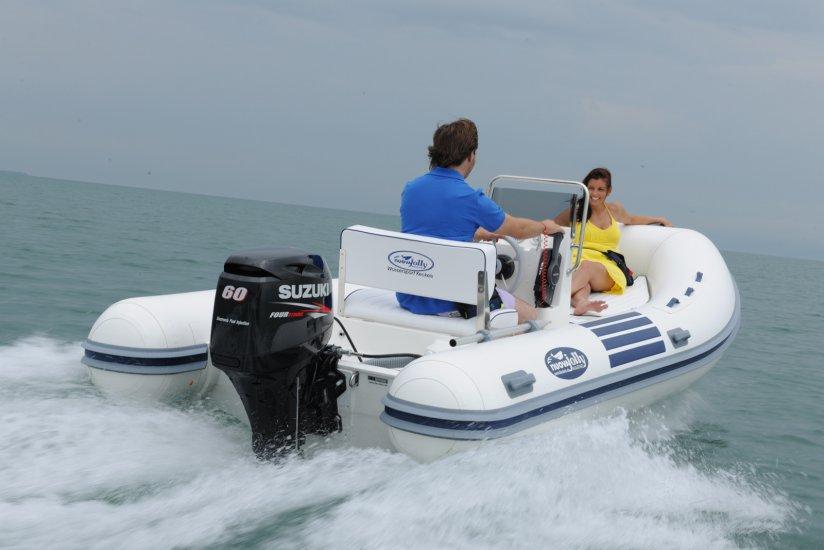 лодку с колесом под мотор
