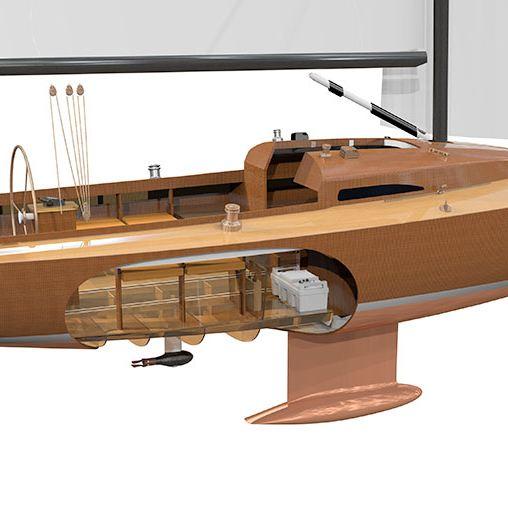 Лодочный электромотор, Torqeedo, Cruiser, 2.0 FP, 2.0, под корпус лодки