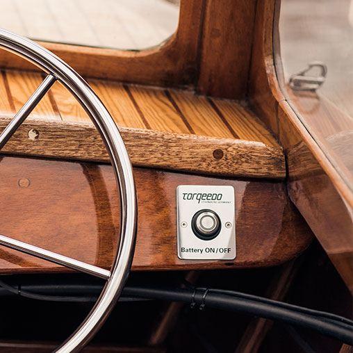 Лодочный электромотор, Torqeedo, Cruiser, 2.0 RL, 2.0, крепление на транец