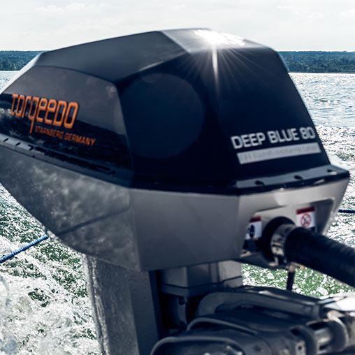 Лодочный электромотор, Torqeedo, Deep Blue, 80.0 TL, 80.0, крепление на транец