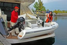 Надувная лодка — GRAND Golden Line G340EF. Самый легкий элитный тендер на рынке! Вес лодки G340 всего 115кг, G380-170кг!