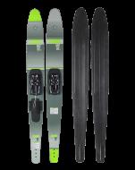 Mode Combo Skis JOBE, Mode Combo Waterskis Green JOBE, 203216001, Jobe 203216001, water skis, water skis Jobe, Водные лыжи, Водные лыжи Jobe, Водные лыжи для профи, лыжи для высокого уровня, лыжи для высокого уровня катания, лыжи комбо, лыжный слалом, уровень профи, лыжи для профи, Профессиональные водные лыжи
