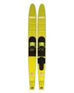 Allegre Combo Skis Yellow JOBE, 203318002, Jobe 203318002, water skis, water skis Jobe, Водные лыжи, Водные лыжи Jobe, Водные лыжи для новичков, лыжи для среднего уровня, лыжи для среднего уровня катания, лыжи комбо, лыжный слалом, начальный уровень