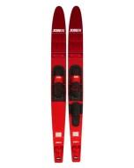 Allegre Combo Skis Red JOBE, 203318003, JOBE 203318003, Allegre Combo Skis Red, water skis, water skis Jobe, Водные лыжи, Водные лыжи Jobe, Водные лыжи для новичков, лыжи для среднего уровня, лыжи для среднего уровня катания, лыжи комбо, лыжный слалом, начальный уровень