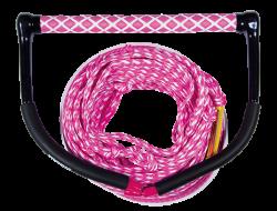 Wake Combo Core Pink JOBE, 211314011, JOBE 211314011, Рукоятка и буксировочный фал для вейкборда, Рукоятка и фал для вейкборда, фал для вейкборда, трос для вейкборда, фал для вейка, нетонущий фал