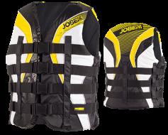 Progress 4 Buckle Vest Yellow JOBE, 244815014, Жилет спасательный унисекс, Жилет страховочный unisex, Жилет страховочный, Жилет спасательный