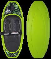 Justice Green kneeboards, Justice Green kneeboards JOBE, JOBE 252516003, Ниборд, коленный вейкборд, ниборд JOBE, kneeboards, kneeboards jobe