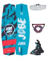 Jinx Wakeboard Package 128 JOBE, Jinx 128 Junior Wakeboard Package JOBE, JOBE 278817017, 278817017, Jinx Junior Wakeboard Package JOBE, Комплект для вейкбординга, Вейкборд + крепление, Комплект для вейкборда, вейк, вейкборд, Wakeboard, вейкборд Jobe, Wakeboard Jobe, вейк и крепление, вейкборд с креплением