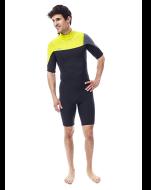 Perth Shorty 3/2mm Yellow Wetsuit Men JOBE, 303617151, Гидрокостюм, Гидрокостюм мокрый, Гидрокостюм неопреновый мужской, Гидрокостюм неопреновый jobe, Гидрокостюм мужской короткий, Гидрокостюм мужской Jobe