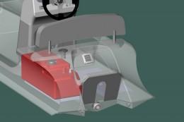 Топливная система с пластиковым баком на 40 л, датчиком и заливной горловиной