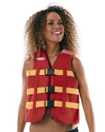 Heavy Duty Vest Red JOBE, Vest Red JOBE, 442418001, JOBE 442418001, Жилет спасательный унисекс, Жилет страховочный unisex, Жилет страховочный, Жилет спасательный, спасательный жилет для коммерческого использования