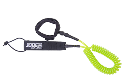 Paddle Board Leash Coil 10 ft JOBE, 480017022, JOBE 480017022, Поводок для SUP, поводок безопасности для SUP, браслет безопасности