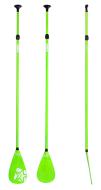 SUP Paddle Fiberglass 3pc Green JOBE, JOBE 486717412, 486717412, Paddle SUP JOBE, SUP Paddle, SUP, все для SUP, весло, весло для SUP, весло не тонет, весло из стекловолокна
