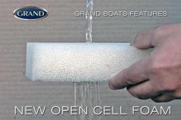Поролон с открытыми порами, обеспечивает лучшей отток воды и хорошую вентиляцию, увеличивает срок службы мягких подкушек