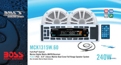 BOSS Marine MCK1315W.60, BOSS MCK1315W.60, MCK1315W.60, морская аудиосистема