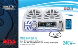 BOSS MARINE MCK1440W.6, морская аудиосистема, морская магнитола, морские магнитолы, морская акустика