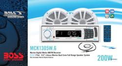 BOSS Marine MCK1305W.6, BOSS MCK1305W.6, MCK1305W.6, морская аудиосистема