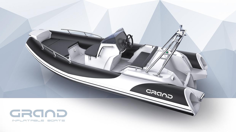 Надувная лодка с жестким дном, RIB, GRAND Golden Line G500