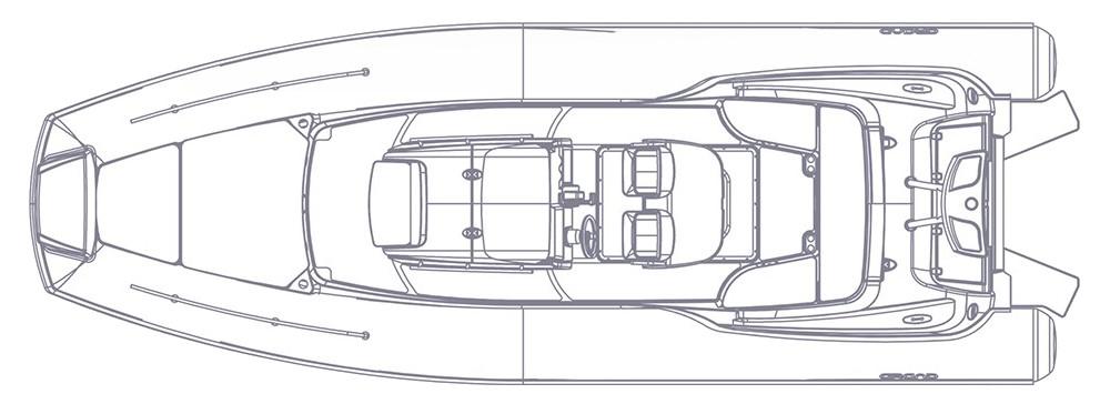 Чертеж надувной лодки с жестким дном GRAND Golden Line G850HLF