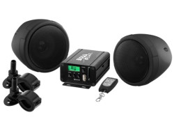BOSS Marine MCBK520B, BOSS MCBK520B, MCBK520B, BOSS Audio MCBK520B, Boss Audio Systems MCBK520B, BOSS Audio Marine MCBK520B, аудиосистема для мотоцикла, аудиосистема на мотоцикл, музыка на мотоцикл, Акустическая система для мотоцикла, BLUETOOTH® | 600 WATTS MAX POWER ALL-TERRAIN SPEAKER AND AMPLIFIER SYSTEM