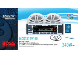 BOSS Audio Marine MCK1315W.60, BOSS Marine MCK1315W.60, BOSS Audio Systems MCK1315W.60, BOSS Audio MCK1315W.60, BOSS MCK1315W.60, MCK1315W.60, морская магнитола, BOSS Audio Systems, BOSS Audio, BOSS Marine, магнитола BOSS Marine, морская магнитола BOSS