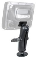 RAM 1.5, Lowrance, Elite, усиленная подставка для эхолота, усиленная подставка для картплоттера, усиленная подставка под эхолот, усиленная подставка под картплоттера, подставка, картплоттера, эхолота, с поворотным механизмом