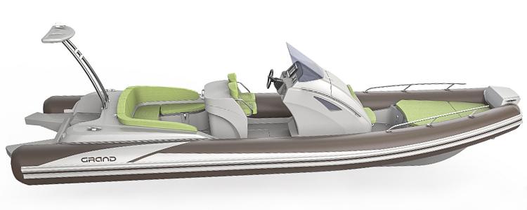 Надувная лодка с жестким дном, RIB, GRAND Golden Line G850GHL
