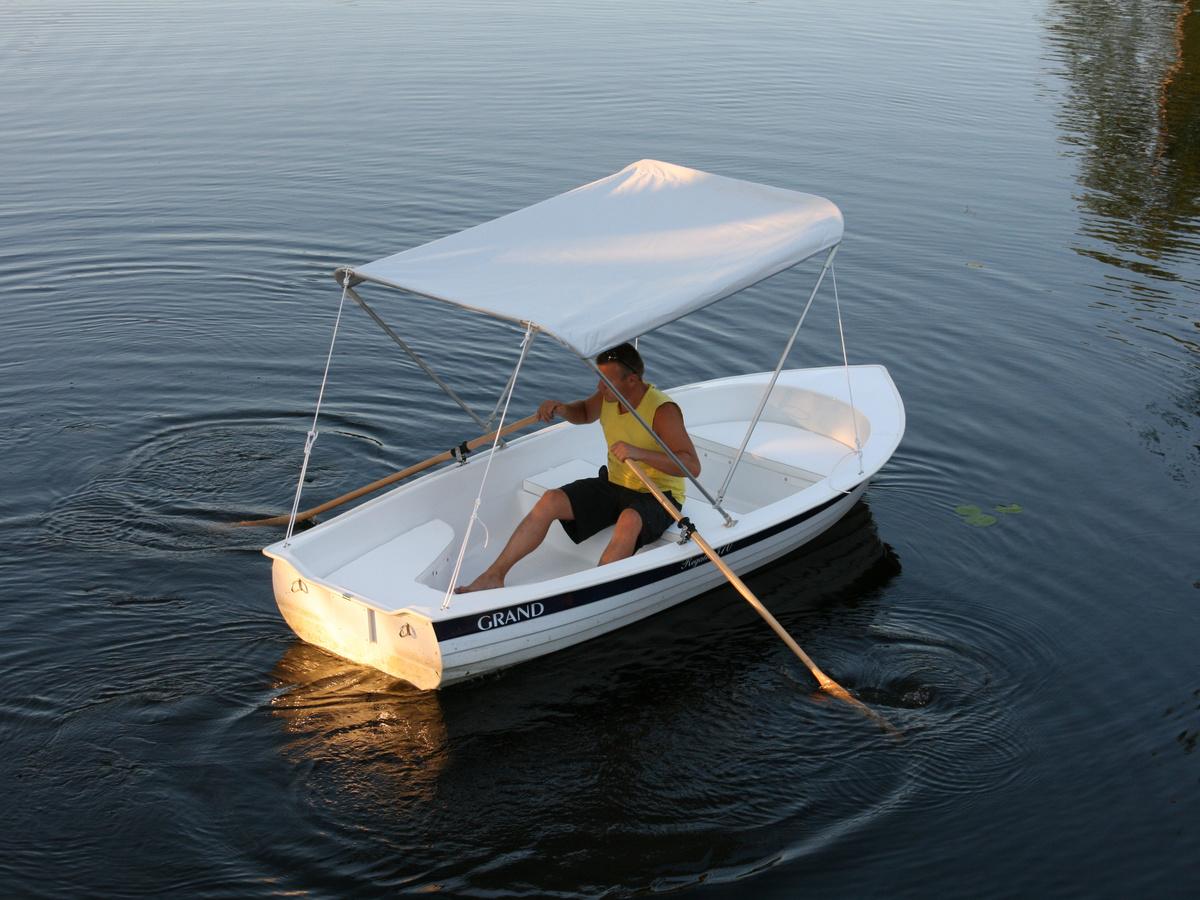 GRAND REGATTA RG370R limited edition, Гребная лодка с солнцезащитным тентом, гребная лодка GRAND REGATTA, гребная лодка GRAND, стеклопластиковая лодка GRAND, GRAND RG370R, GRAND Regatta RG370R, RG370R, прогулочная лодка, гребная лодка, гребные лодки